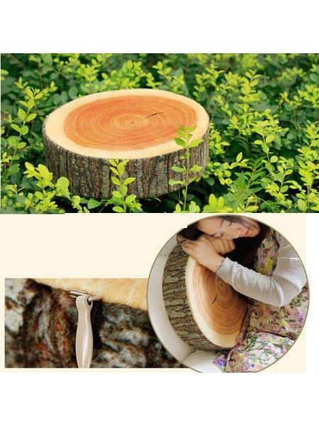 Мягкая подушка в виде среза дерева
