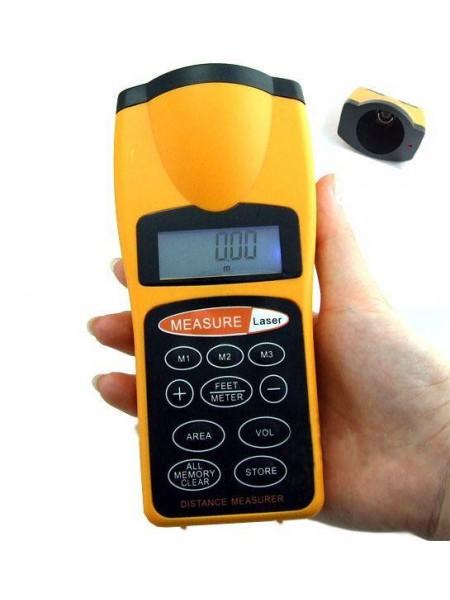 Ультразвуковой дальномер с лазерной указкой