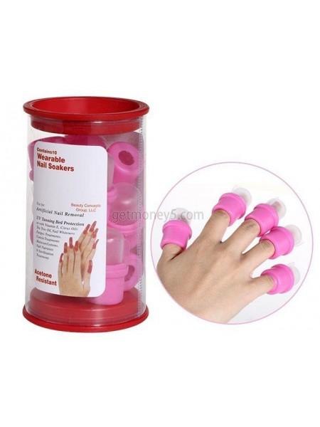 Набор наконечников для снятия лака с ногтей (10 шт.)