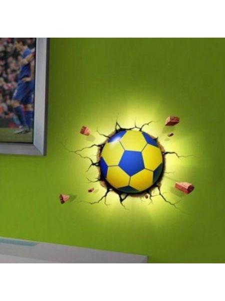 Настенный 3D светильник в форме футбольного мяча