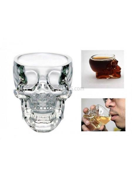 Хрустальный стакан в форме черепа для крепких напитков