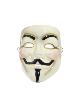 Пластиковая маска Гая Фокса