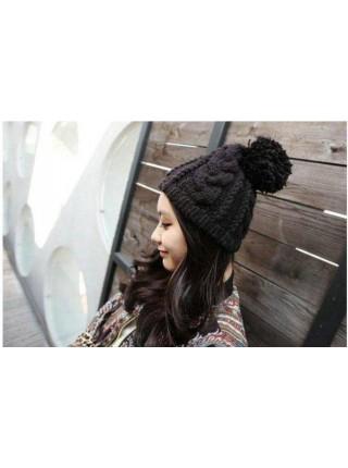 Зимняя вязаная теплая шапка