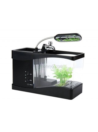 Декоративный мини USB аквариум с подсветкой