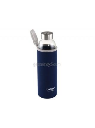 Стеклянная заварочная бутылка с чехлом (550 мл)