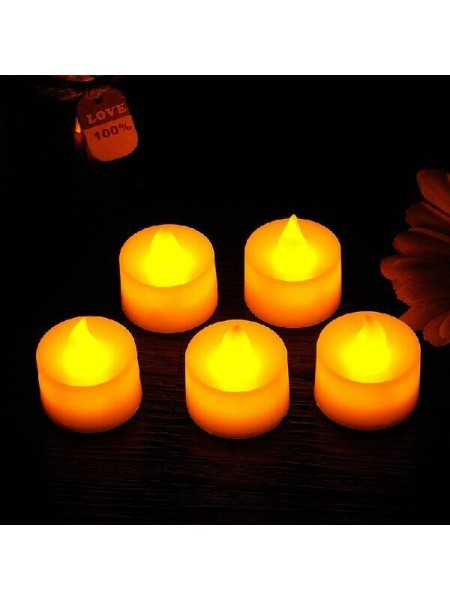 Электронная романтическая свеча с пламенем