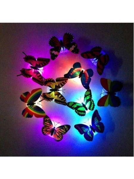 Красочные светящиеся бабочки на присоске (1 шт.)