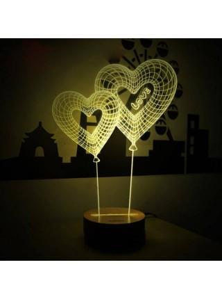 Настольная 3D лампа с оптической иллюзией объема