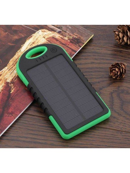 Внешний аккумулятор на солнечной батареи 5000mAh
