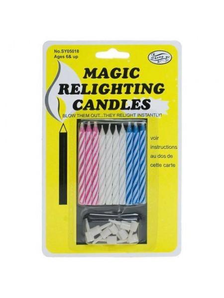 Волшебные свечи для торта (10 шт.)