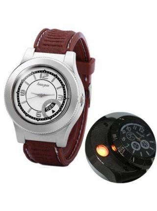 Мужские часы с электронной зажигалкой