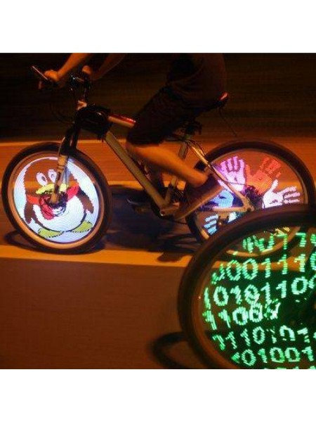 LED-анимация на колеса велосипеда