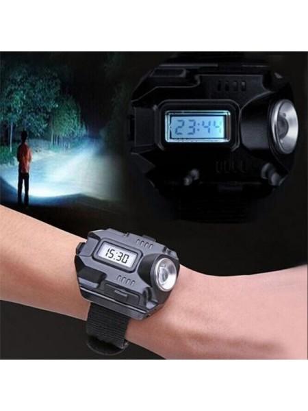 Наручные светодиодные часы с фонариком