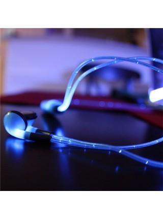 Светящиеся наушники с микрофоном