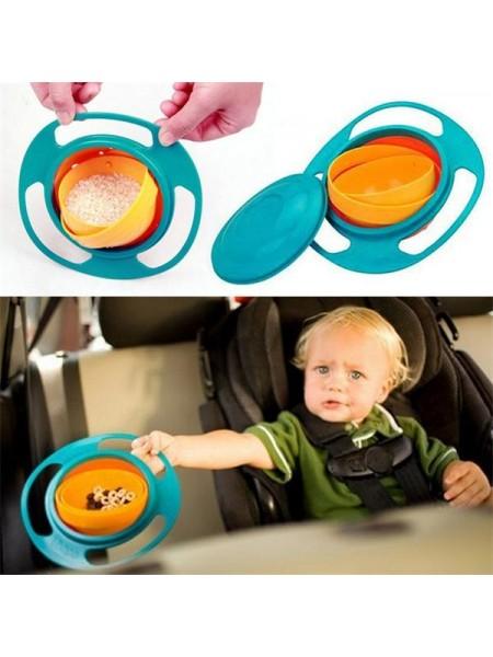 Вращающаяся тарелка непроливайка для детей