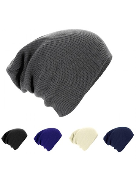 Зимняя однотонная тёплая вязаная шапка