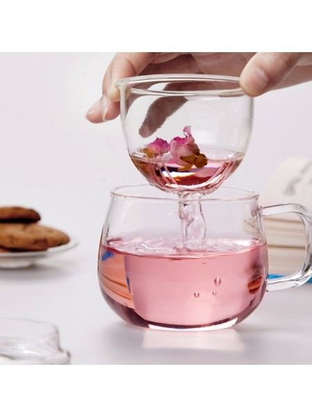 Стеклянная чашка для заваривания чая (320 мл)