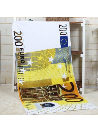 Полотенца из микрофибры с принтом валют (70x140 см)