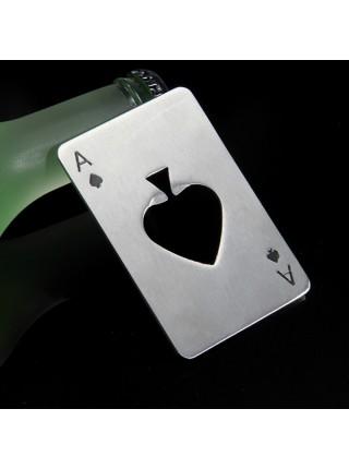 Металлическая открывалка для бутылок Poker