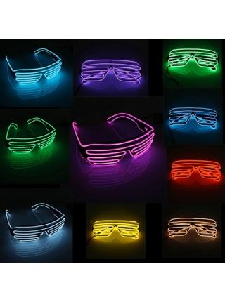 Светящиеся клубные очки жалюзи