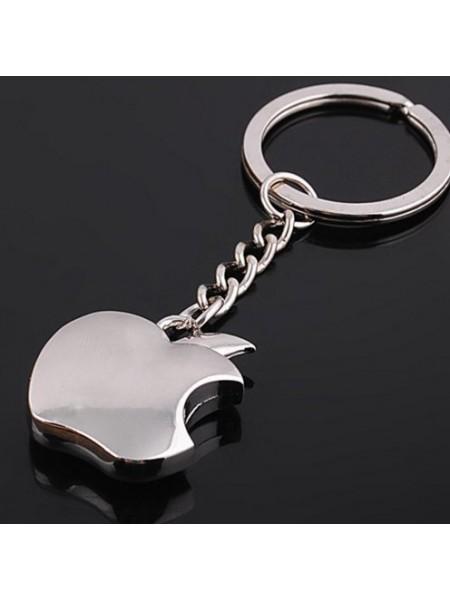 Металлический брелок для ключей яблоко
