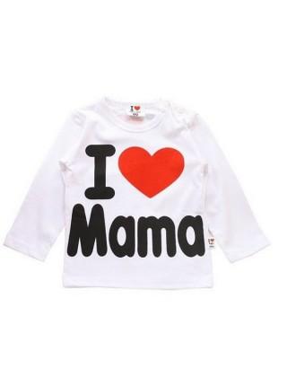 Детская футболка с длинным рукавом I Love Mama & Papa