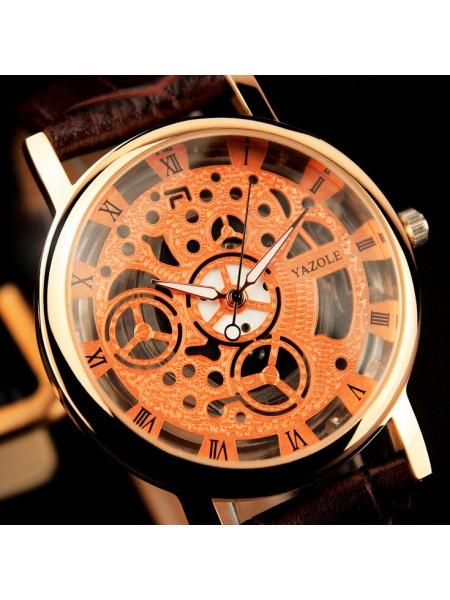 Мужские наручные часы YAZOLE Skeleton