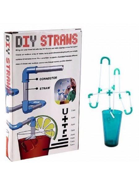 Трубочка конструктор для напитков «Crazy Straws»