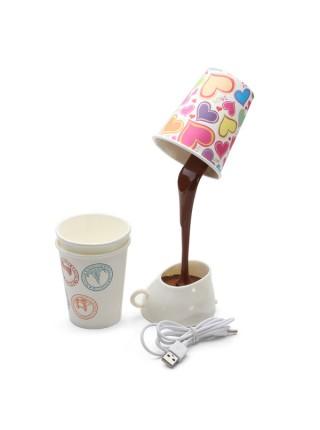 Светильник льющийся кофе