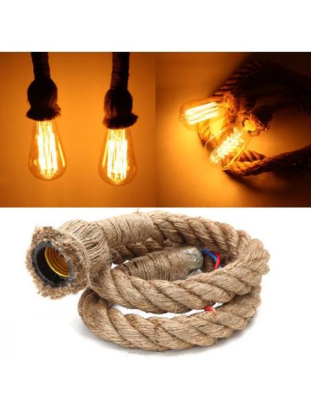 Подвесной ретро-светильник «верёвка»