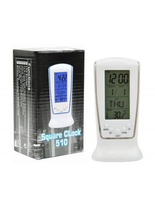 Цифровой будильник с термометром и подсветкой