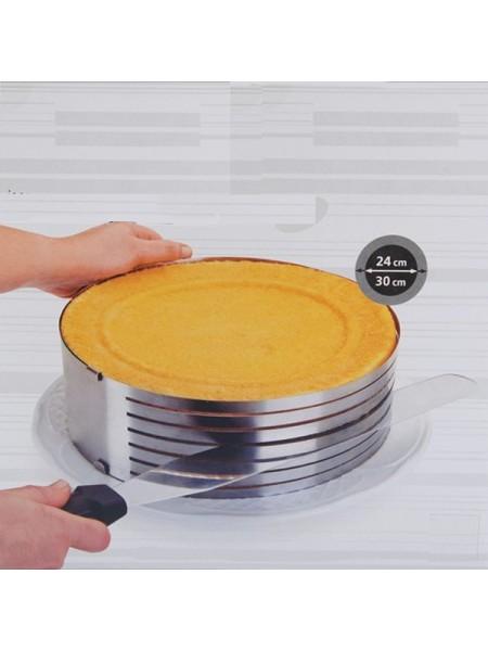 Форма для нарезки коржей с регулируемым диаметром (24-30 см)