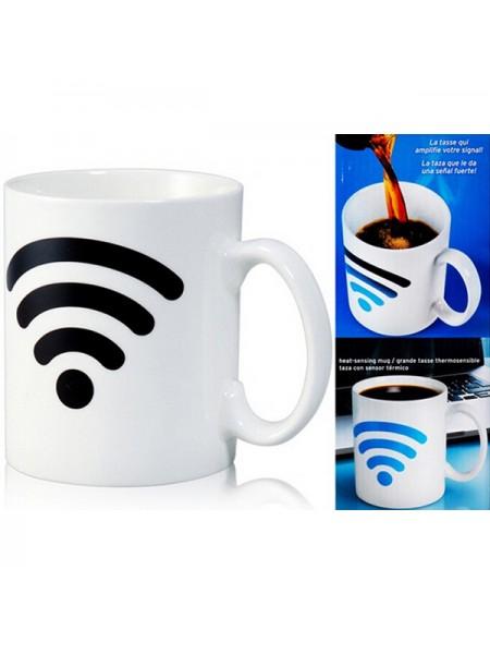 Керамическая термокружка с индикатором Wi-Fi