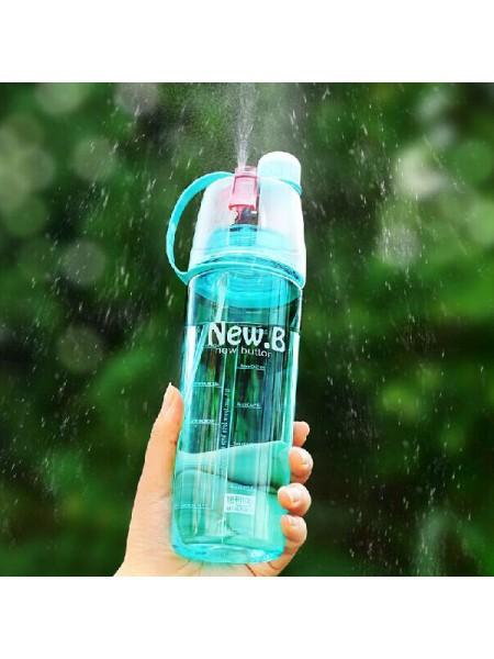 Спортивная бутылка для воды со спреем (600 мл)