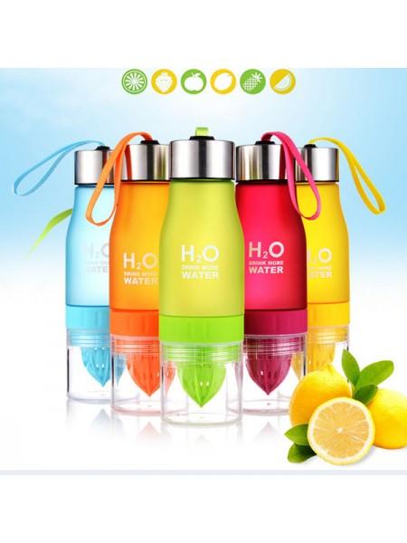 Бутылка для воды с соковыжималкой H2O Water (650 мл)