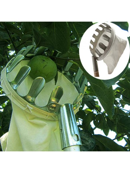 Плодосъемник для яблок с резками на конце