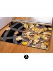 Входной коврик с реалистичным 3D изображением открытого люка