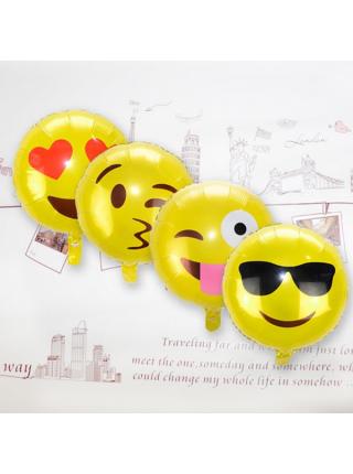Воздушные шары Emoji смайлики (16 шт.)