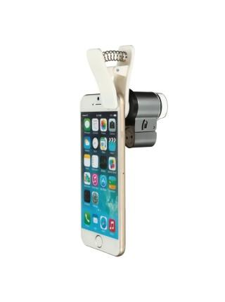 Микроскоп с подсветкой для телефона