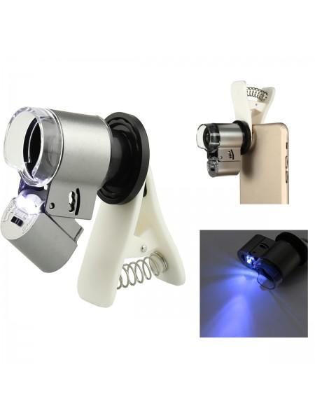 Микроскоп со светодиодной подсветкой для телефона