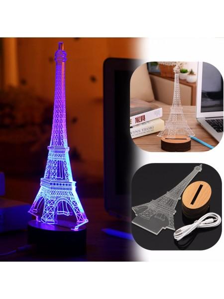 Настольная 3D лампа «Эйфелева башня»
