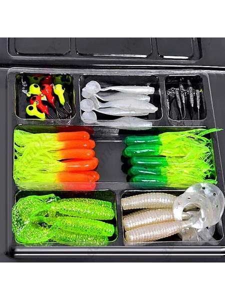 Набор силиконовых приманок для рыбалки (35 шт.)