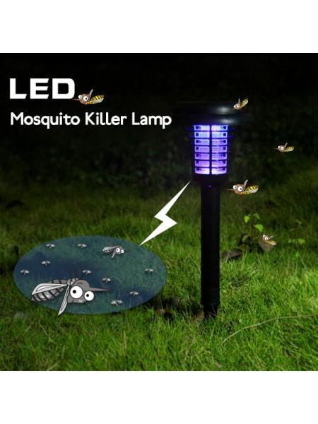 Садовый фонарь-уничтожитель насекомых на солнечных батареях