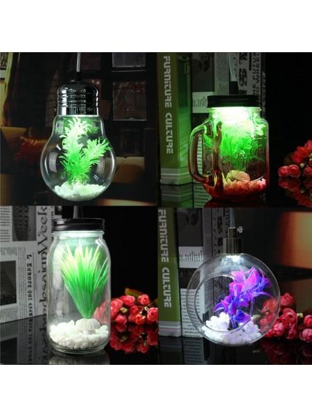 Подвесной стеклянный светильник террариум