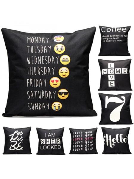 Наволочки на подушку с разными стилями (43 х 43 см)