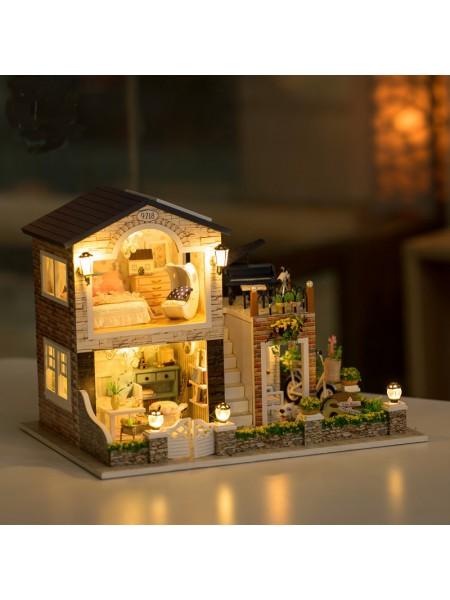 Деревянные ирландский загородный дом с подсветкой DIY