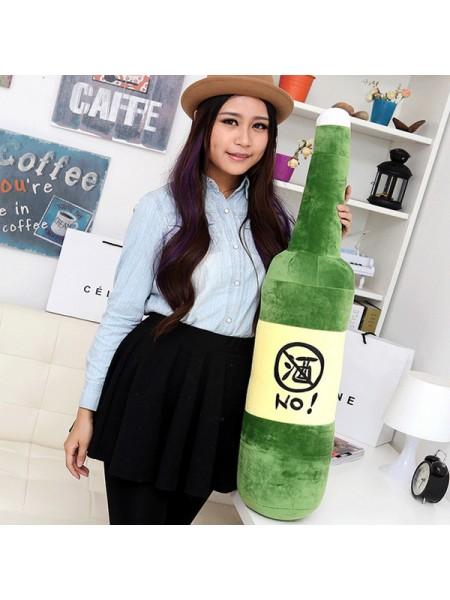 Мягкая плюшевая подушка в форме бутылки (70 см)