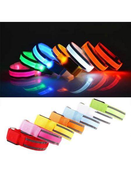 Светящиеся нейлоновые LED браслеты