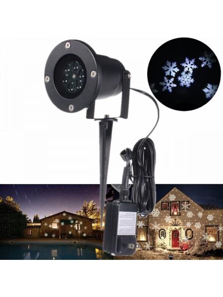 Рождественская LED лампа-проектор для украшения дома