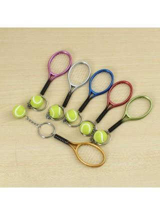 Брелок теннисная ракетка с мячиком